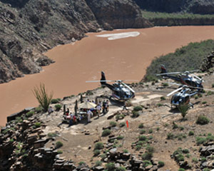 Grand Canyon West Rim Plane Tour with Helicopter Ride and Canyon Landing - 6 Hours (Includes Vegas Hotel Shuttle)