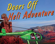 DOORS OFF Sedona Helicopter Tour of the Red Rocks, Ancient Way Flight - 25 Minutes