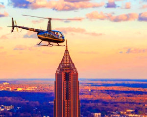 Private Helicopter Ride Atlanta, Downtown and Buckhead - 30 Minutes