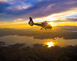 Sunset Grand Canyon Helicopter Tour with Canyon Floor Champagne Landing - 4 Hours (Hotel Shuttle Included)