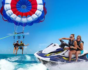 Jet Ski Tour and Parasailing COMBO - Key West