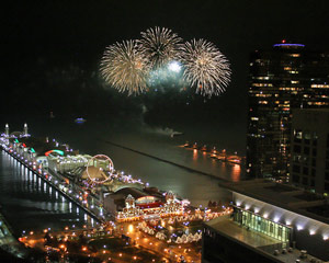 Helicopter Tour Chicago, Fireworks Flight - 30 Minutes