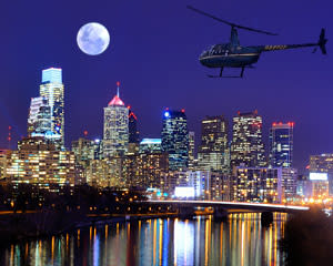 Private Helicopter Tour Philadelphia, Night Flight - 30 Minutes