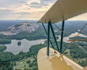 Biplane Ride Atlanta, Downtown and Stone Mountain Tour - 35 Minutes
