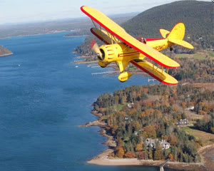 Biplane Ride Acadia, DownEast Tour - 60 Minutes