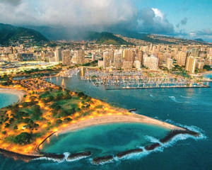 Helicopter Tour Oahu, Evening Flight (Doors Off Available)  - 15 Minutes