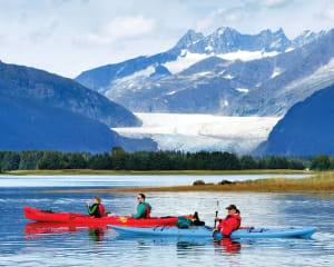 Kayaking Mendenhall Glacier View Tour, Juneau - 3.5 hours