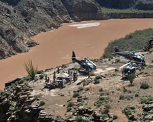 Grand Canyon West Rim Plane Tour with Helicopter Ride and Canyon Landing