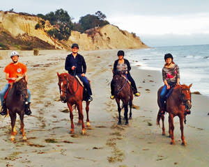 Horseback Riding on a Beach at Santa Barbara - 1.5 Hours