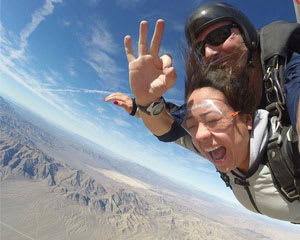 Skydive Sin City Las Vegas with Pro Video and Photo Package Included - 10,000ft Jump (Free Hotel Shuttle Service)
