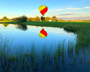 Hot Air Balloon Ride Indianapolis, Private Basket for 4 - 1 Hour Flight