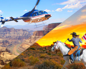 Helicopter Tour Grand Canyon West Rim with Horseback Ride