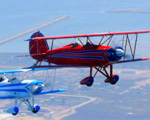 Biplane Formation Flight - San Diego Beach Run (Two Planes!)