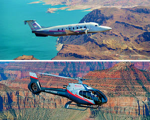 Grand Canyon South Rim Plane, Helicopter and Ground Tour - 7.5 Hours (Includes Vegas Hotel Shuttle!)