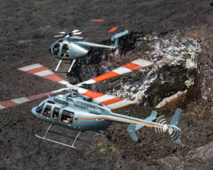 Private Helicopter Tour Big Island, Doors Off Lava and Rainforest Adventure - 45 Minutes