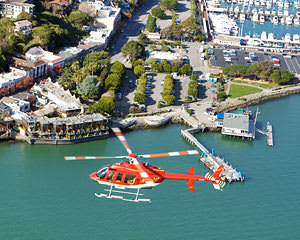 Helicopter Tour San Francisco with Sausalito Landing and Ferry Return - 3 Hours