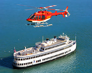 Helicopter Tour San Francisco with Dinner Cruise - 5 Hours