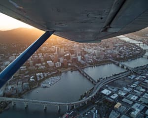 Scenic Plane Tour Downtown Portland - 45 Minutes (Three People Fly for the Price of One!)