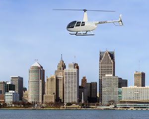 Private Helicopter Ride Detroit - 30 Minutes (3rd Passenger Rides for Free!)