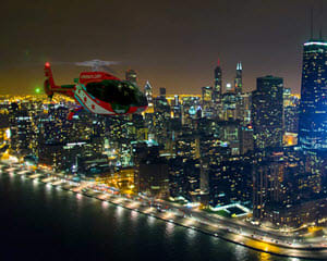 Helicopter Tour Chicago, City Lights Night Flight - 15 Minutes
