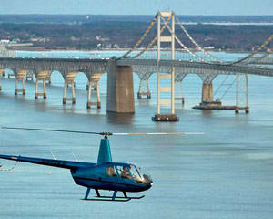 Helicopter Ride Baltimore, Annapolis Bridges, Boats and Bay Tour - 40 Minutes