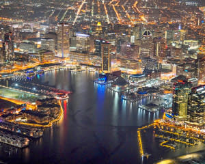 Helicopter Tour Baltimore, City Lights - 30 Minutes