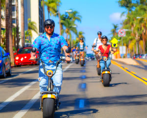Guided Electric Scooter Tour San Diego, Downtown and Balboa Park Tour - 2 Hours