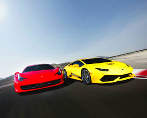 Italian Faceoff 2 Supercar Drive (Includes Hotel Shuttle Pick Up) - Las Vegas