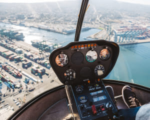 Private Helicopter Tour Newport Beach, OC Triangle - 25 Minutes (Single Passenger)