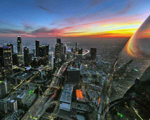 Private Helicopter Tour Long Beach, Night Flight - 25 Minutes (3 Passenger Special)