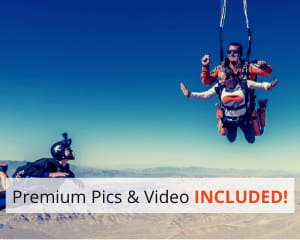 Las Vegas Tandem Skydive, Premium Access with Photos & Video