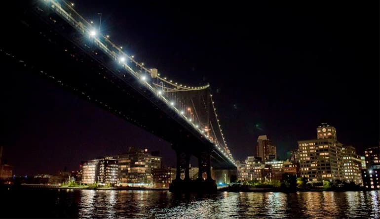 New York Night Sail Bridge