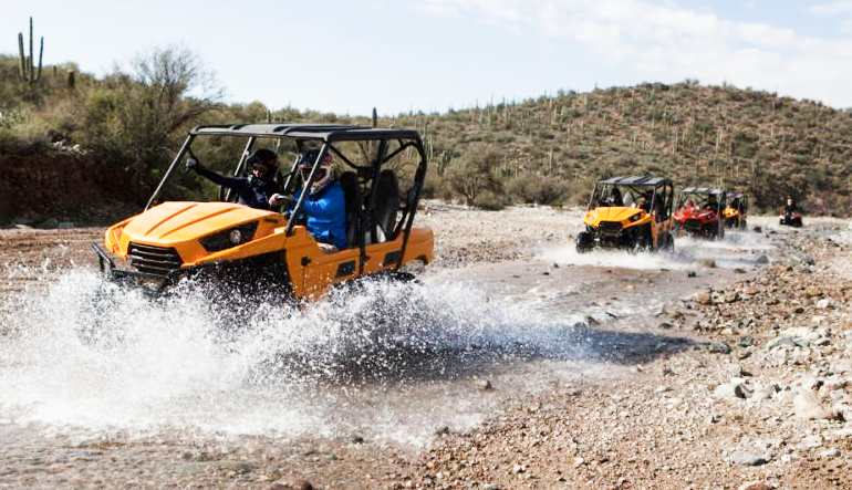 UTV Guided Tour Phoenix, Black Canyon Splash