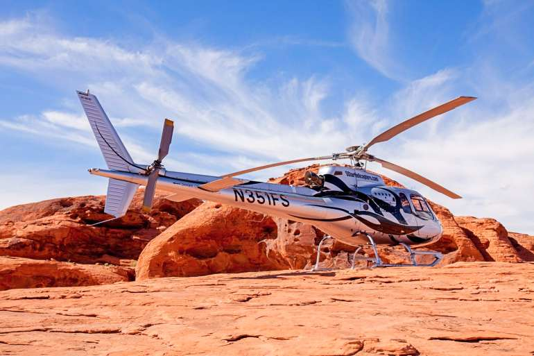 Grand Canyon and Valley of Fire Helicopter Tour Landing