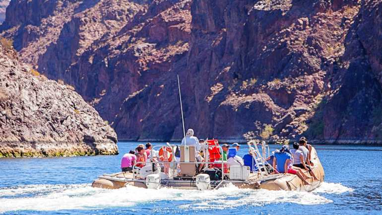 Grand Canyon Helicopter Tour Rafting Group