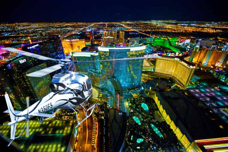 Las Vegas Helicopter Tour Lights