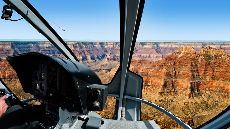 Grand Canyon Helicopter Tour Cockpit