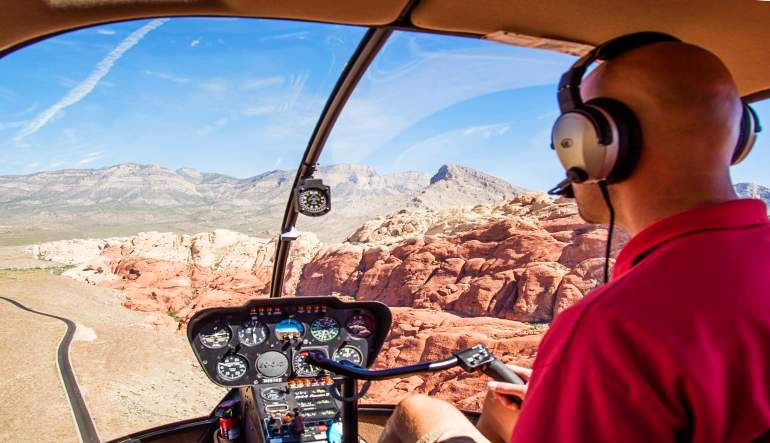Helicopter Tour Red Rock National Park Pilot
