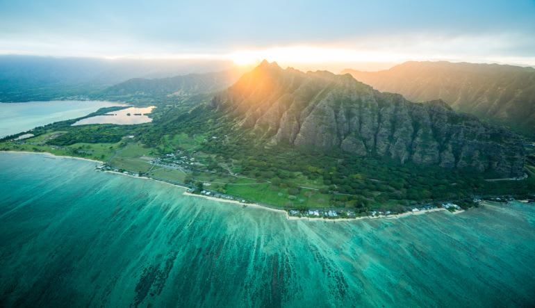 Helicopter Tour Oahu Landscape