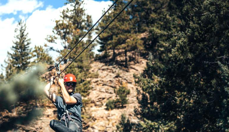 Ziplining Denver, Granite - Half Day