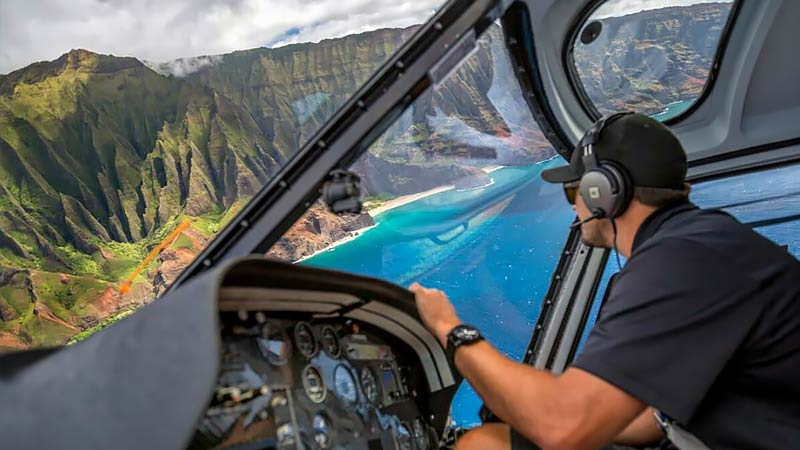 Kauai Helicopter Tours Cockpit
