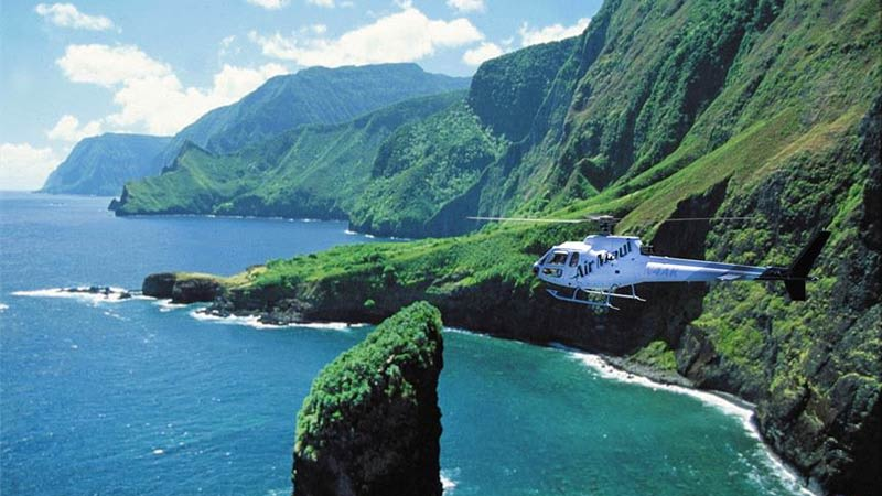Helicopter Tour Maui Coastal Cliffs