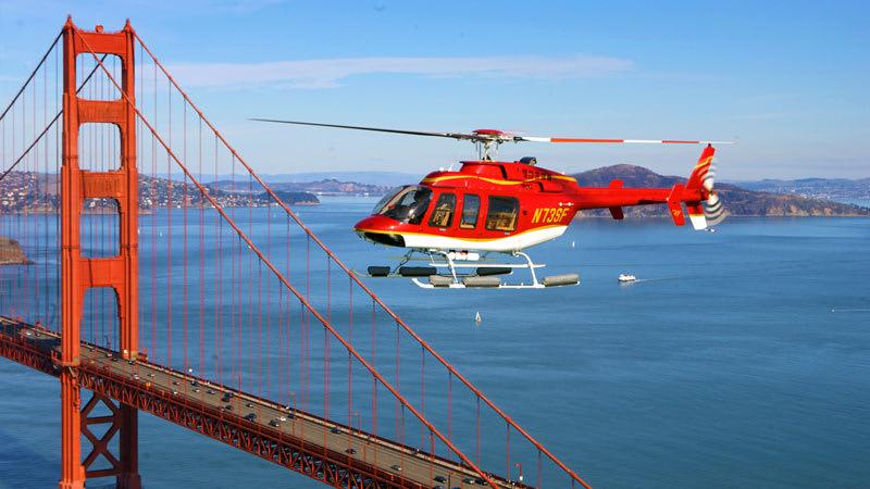 Helicopter Rides San Francisco Golden Gate Bridge