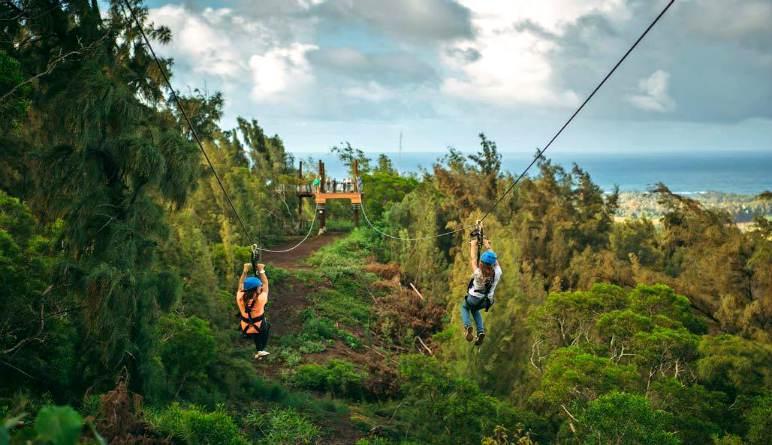 Zipline Oahu Zipping