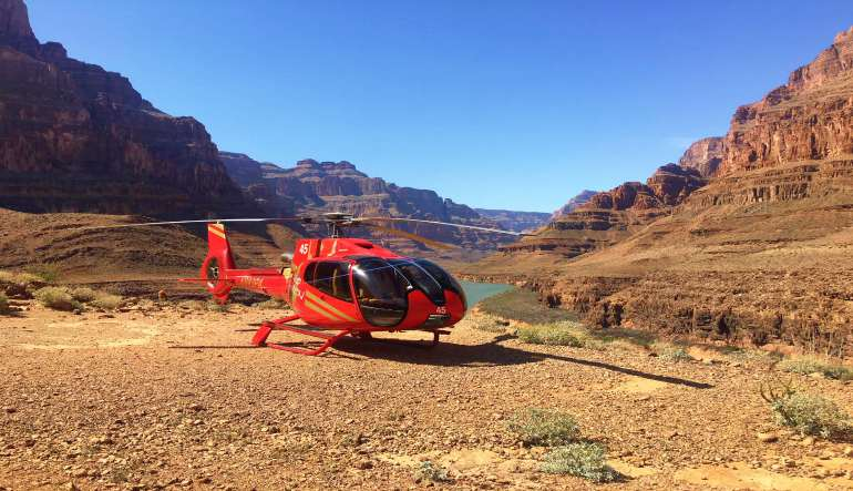 Grand Canyon Helicopter Tour Red Helicopter