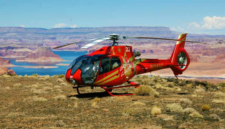 Grand Canyon Helicopter Tour Aircraft and Landscape