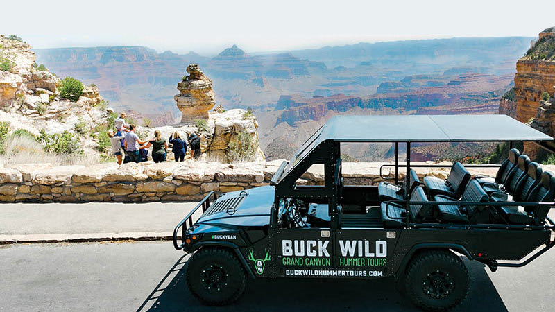 Helicopter and Sunset Hummer Tour Grand Canyon South Rim North Canyon Tour 3 Hours
