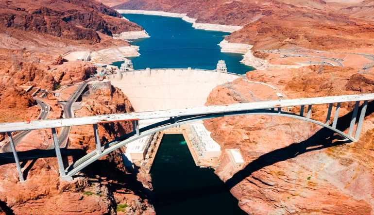 Grand Canyon West Rim Helicopter Tour Above and Below the Rim Extended Air Tour Dam