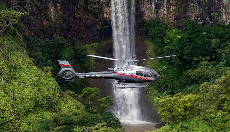 Helicopter Tour Maui Waterfall