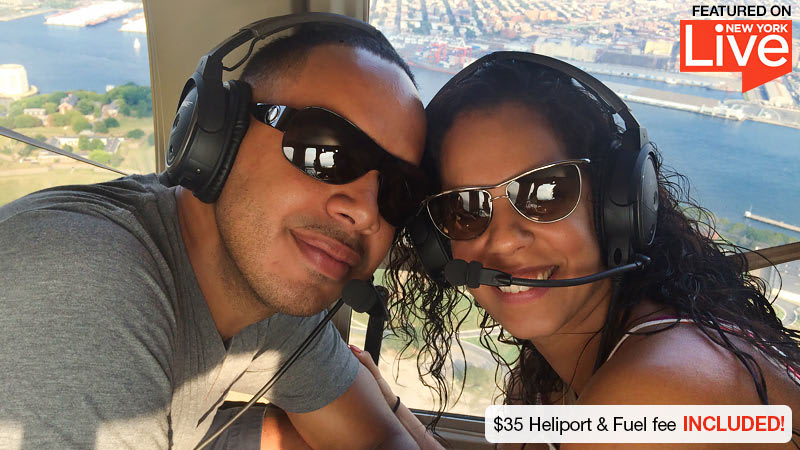 Helicopter Ride New York City Couple